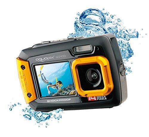 EasyPix W1400 Active wasserdichte 3-m-Digitalkamera, CMOS 14MP, 2,7-Zoll-LCD, Orange-Schwarz