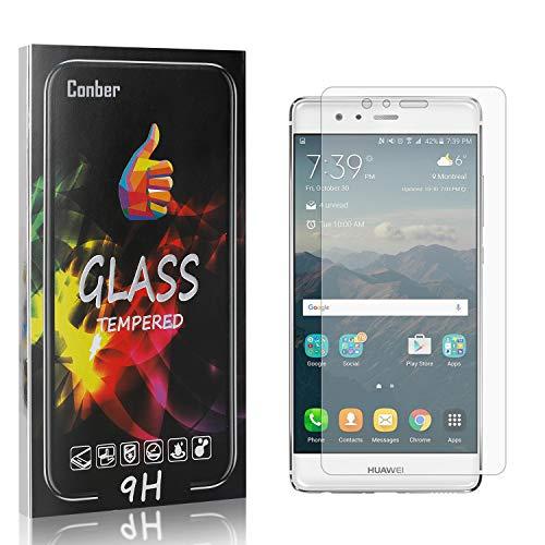 Conber [4 Stück] Displayschutzfolie kompatibel mit Huawei P9, Panzerglas Schutzfolie für Huawei P9 [Hüllenfreundlich][9H Härte]