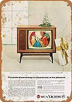 1958 RCAマークシリーズタウンゼントカラーTVコレクティブルウォールアート