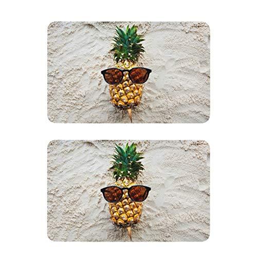 Imanes para nevera de piña tropical, divertidos, para decoración de pizarra blanca, oficina, cocina, 2 unidades