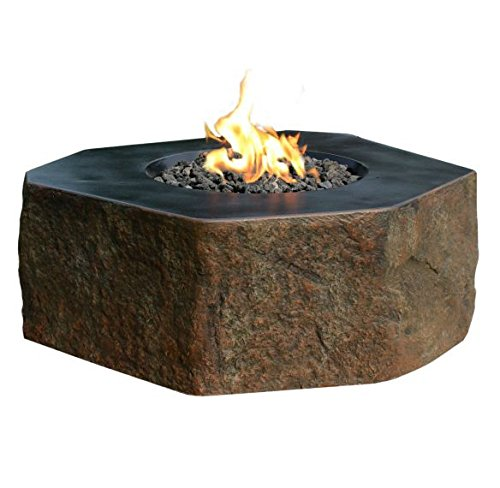 Columbia Cast Concrete Natural Gas Backyard Fire Pit by Elementi