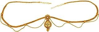 ACCESSHER Exotic Yellow Gold Kamarband Waist Belt for Women