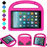 Kids Case for All-New Fire 7 2019/2017 - TIRIN Light Weight Shock Proof Handle Kid–Proof Cover Kids Case for Amazon Fire 7 Tablet (9th/ 7th/ 5th Generation, 2019/2017/ 2015 Release)(7' Display), Rose