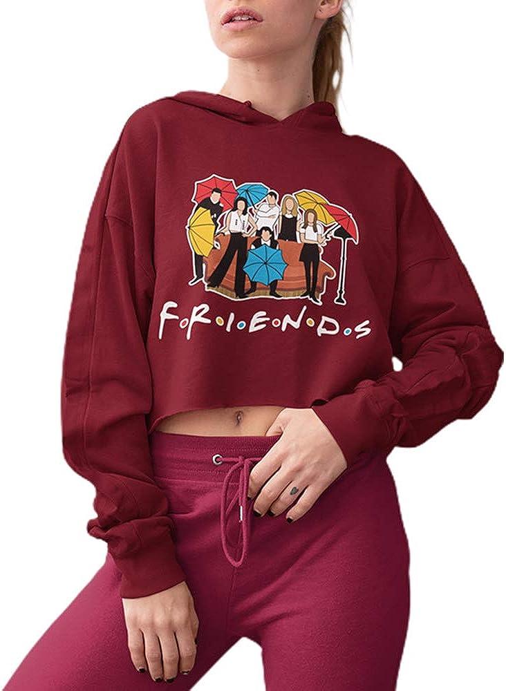 Women's Friend Popular brand Ranking TOP14 in the world Tv Show Merchandise Graphic Top Long Sleeve Crop