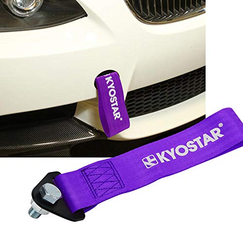 Kyostar High Strength Racing Tow Strap for Front Rear Bumper Hook(Purple)