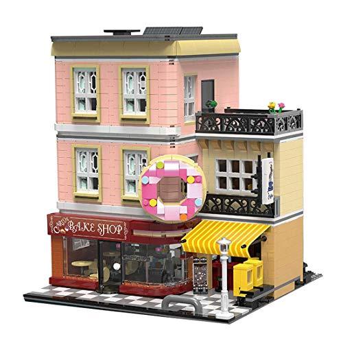 CYGG Arquitectura Bake Shop Building Blocks, 2919 PCS Three Pendientes Tienda Street View Series Construction Set, Compatible con Lego