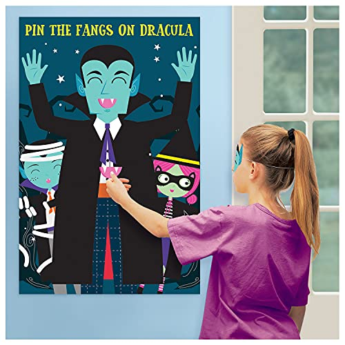 Amscan 9912221 – Pin the Fangs on the Vampire Kids Halloween Party Game