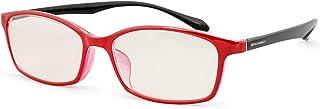 ESCHENBACH 遠近両用 老眼鏡 ブルーライトカット PCビュアー レッドブラック +2.5度 2993-1425