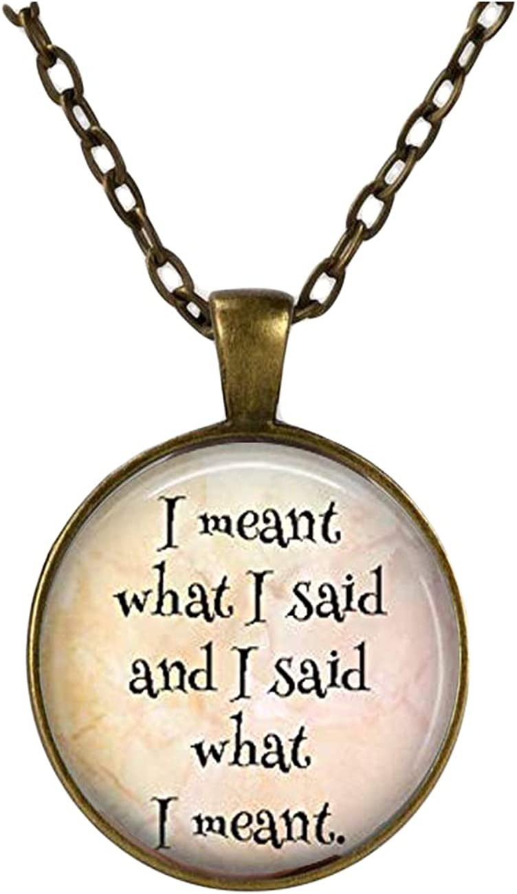 Motivation jewelry ,Speech pendant, Antique necklace,Dome glass jewelry, pure hand-made