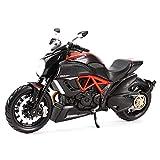 Maquetas de Coches 1:12 Ducati Diavel, Vehículos De Fundición Roja De Carbono, Pasatiempos Coleccionables, Modelo De Motocicleta, Juguetes