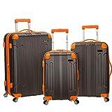 Rockland London Hardside Spinner Wheel Luggage, Charcoal, 3-Piece Set (20/24/28)