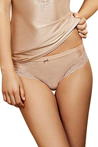 Lisca Damen Unique Brasilslip 22086, Mandel, 42