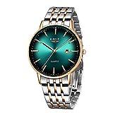 LIGE Herren Uhr Klassische Armbanduhr Watch Analog Quarz wasserdichte Uhr Herren Modische Businessuhr Luxus Armbanduhr Edelstahl Einfache Männer Moderne Herrenuhr