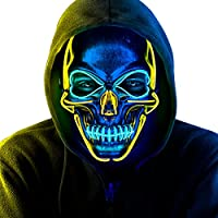 Tismell LED Light Up Scary Halloween Mask