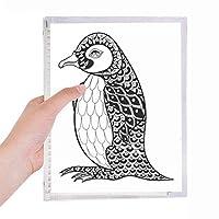 ヒトのペンキの静かな赤ちゃんペンギン 硬質プラスチックルーズリーフノートノート