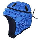 QinWenYan Casque de Rugby Enfants Football Anti-Collision Capuchon HeadGuard Enfants Football Professionnel Helmet Helmet Helet Head Head Protecteur pour Le Rugby (Couleur : Bleu, Size : M)