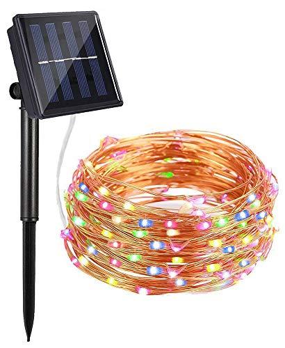 Bovon Luces Solares, Guirnaldas Luces de Navidad 100 LED, 10