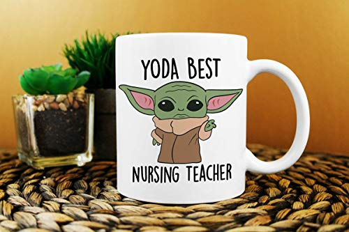 Best Nursing Teacher Ever Yo_daa Mug, Ba_by Yo_daa Mug Mug With Handle, Insulated Ceramic Reusable Coffee Cup, Coffee Travel Mug