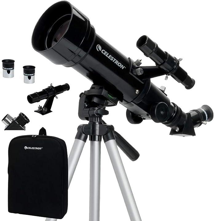 Telescopio portatile, rifrattore da 70 mm, nero celestron travelscope 70 21035