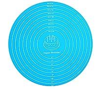 ベーキングマット、ベーキングマット、シリコンマット、ニーディングマット、ベーキングツール、滑り止めベーキングマット、テーブルマット。キッチンで焼くときに使用し、プレースマットとしても使用できます。色:青、緑、ピンク。サイズ:30cm (Color : Blue, Size : 30cm in diameter)