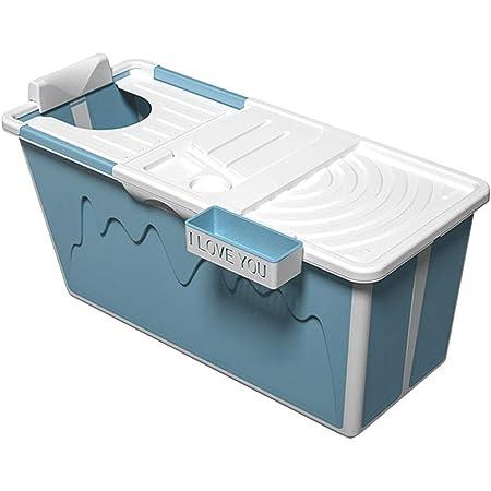 effiziente Temperaturerhaltung separate SPA-Badewanne 120x55x50cm faltbare Badewanne f/ür Erwachsene stehende Badewanne f/ür Duschkabine Tragbare faltbare Badewanne mit Deckel