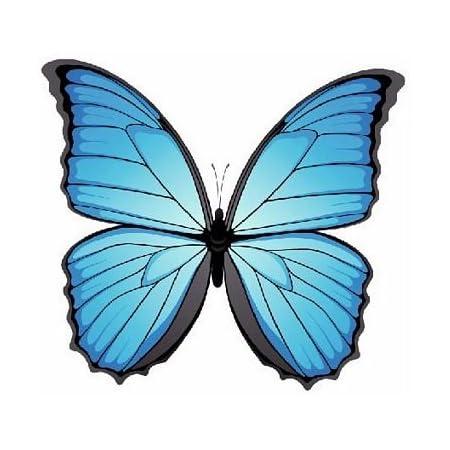 Fahnenmax Autoaufkleber Sticker Schmetterling Blau Aufkleber Auto