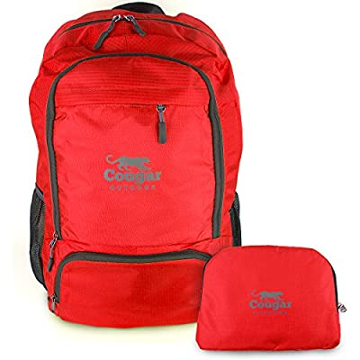 Cougar Outdoor Packable Backpack Daypack Best For Travel and Hiking - Water Resistant and Foldable
