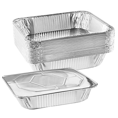 "NYHI 9' x 13 "" Aluminum Foil Pans With Lids (10 Pack) 