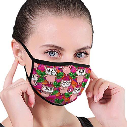 Herbruikbaar skiën fietsen gezichtsmasker mond masker kat schattige tekening liefde kleurrijke textuur wal