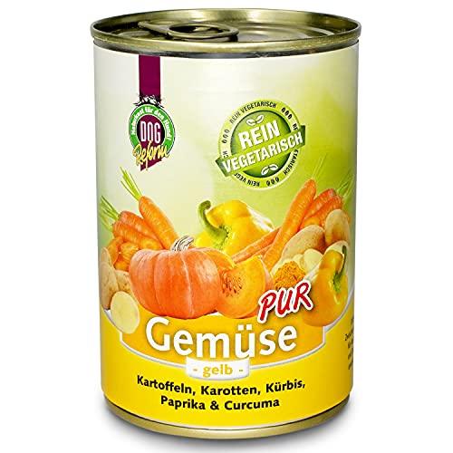 Schecker DOGREFORM Gemüse pur - gelb - 12x 410g - in 3 verschiedenen Sorten erhältlich - zum BARFen - als Ergänzung für das Nassfutter oder Trockenfutter