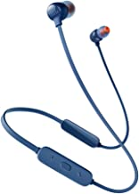 JBL Tune 115BT in-Ear Wireless Headphones with Deep Bass, 8-Hour Battery Life and Quick Charging (Blue)