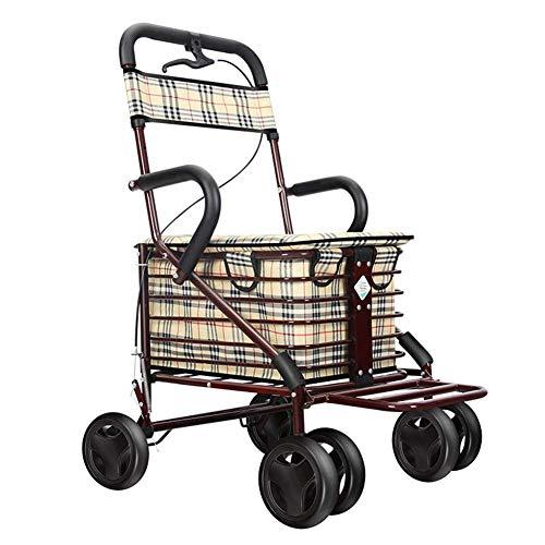 Cuatro sillas de ruedas Carros de la compra Carro de la compra de anciano Carro de la compra Scooter Carro de la compra plegable