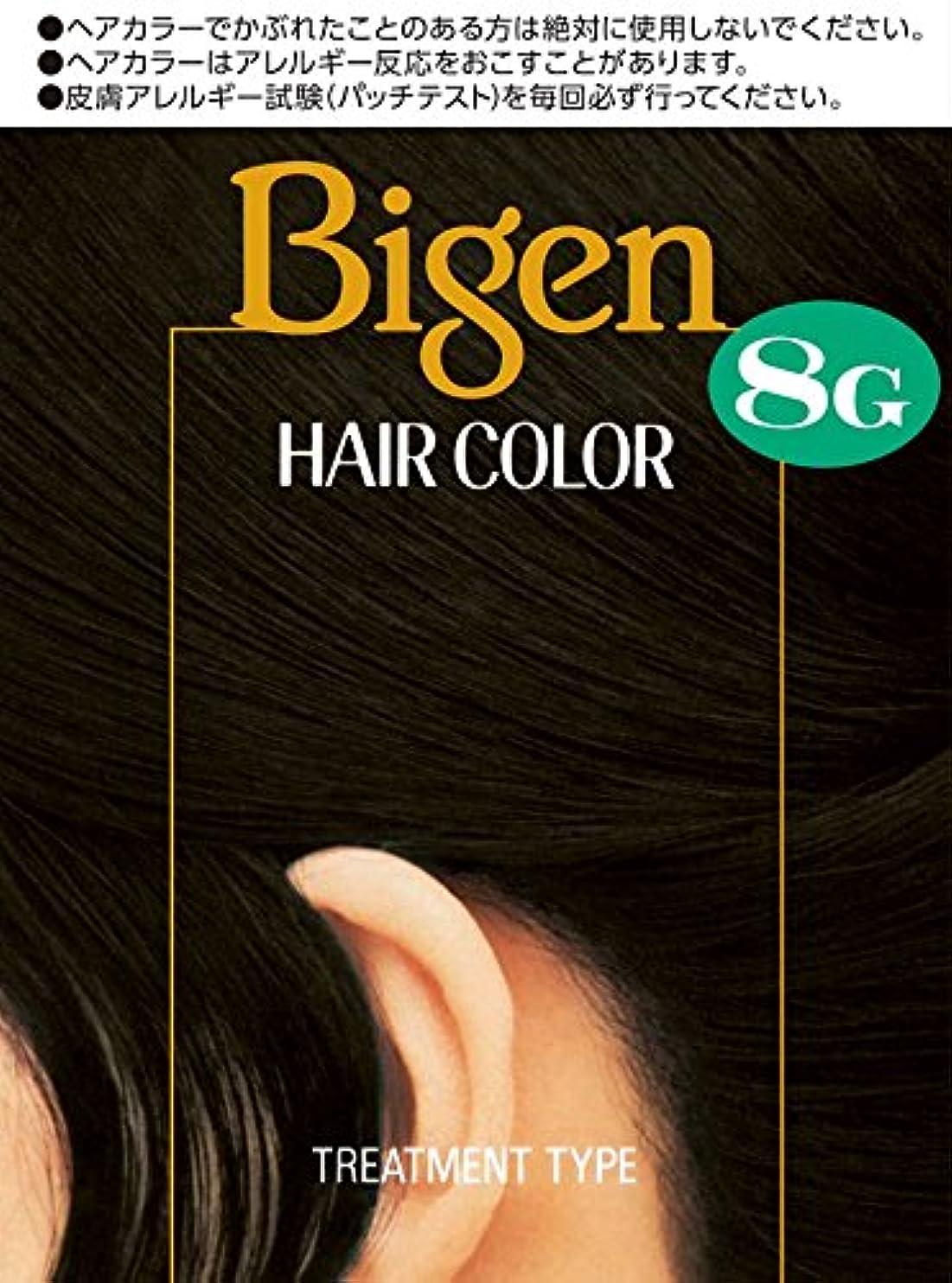 論理的にミンチシュリンクホーユー ビゲン ヘアカラー 8G (自然な黒色) 1剤40mL+2剤40mL