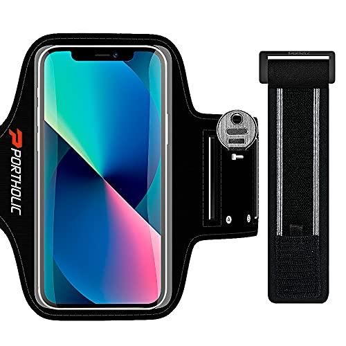Fascia Braccio per Smartphone, Porta Telefono Corsa Cellulare Correre per iPhone 12 11/Pro/XR/XS/8/7/12 Mini, Samsung Galaxy S10/9/8, Huawei 10, Equipado con Soporte, 6,1 Pulgadas