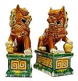 TongNS1 Feng Shui Decoración,Perros Fu Foo Estatuas De León Guardián,Beijing Leones estatuas,la Mejor felicitación de inauguración de la casa, decoración Símbolo de Riqueza