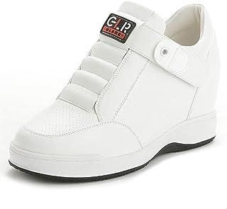 Zapatillas de cuña para Mujer Costura de Color sólido Correa de Palo de Microfibra Zapatos para Caminar de tacón bajo Tacó...