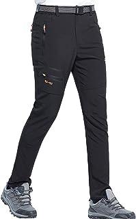 DENGBOSN Pantalon Montaña Hombre Secado Rápido Impermeable