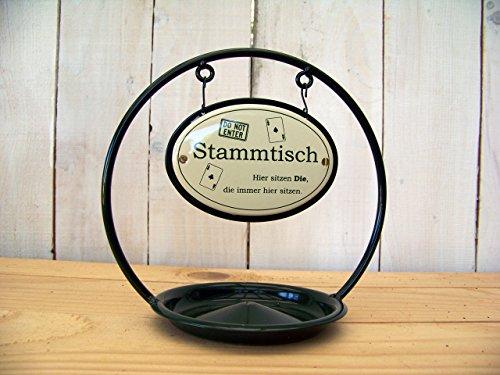 Unbekannt Stammtisch-Ständer Emaille m. Ascher