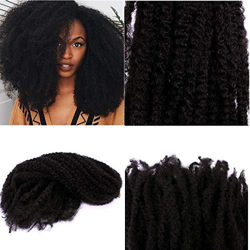 18pulgada (100G Afro crépus rizado Twist Cabello gancho trenzas Marley Braid extensión de cabello sénégalais Twist gancho Trenzado Cabello Cabello pendientes Cabello