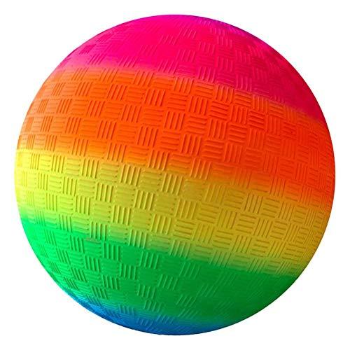 TiKiNi Bolas de arco iris, bola animosa para aliviar la presión de los deportes, pelota de kickball, bola de aleteo para interiores y exteriores, parque de playa, hogar, cumpleaños, escuela, 21,5 cm