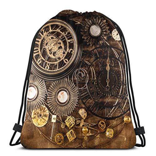 TJKK Mochila con cordón para reloj de pared vintage con cordón para...
