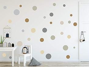 timalo® 73078-SET2-120, wandtattoo, kinderkamer, cirkels, pastel, 120 stuks