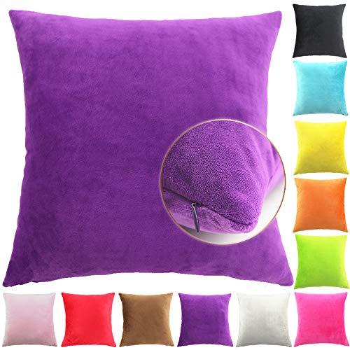 Easondea kussenslopen Deluxe slaapkamer sofakussen kussensloop Purper 45x45cm