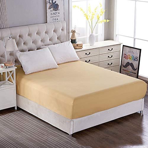 Haiba - Sábana bajera ajustable extra profunda para cama de matrimonio (150 x 200 x 25 cm)