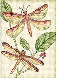 Lxappy Kit de punto de cruz, libélula para principiantes, para adultos, manualidades, decoración del hogar, regalo de 11 ct-40,6 x 50,8 cm