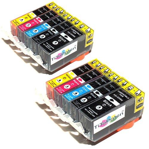 10x Canon Pixma MP550 Kompatible Druckerpatronen - Cyan/Gelb/Magenta/Schwarz- PATRONEN MIT CHIP