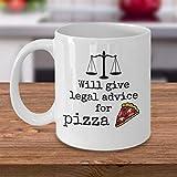 N\A La Taza de café Divertida del Abogado brindará Asesoramiento Legal para el Abogado Defensor de los Amantes de la Comida de Pizza