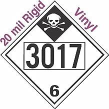 GC Labels-R335c3017, Inhalation Hazard Class 6.1 UN3017 20mil Rigid Vinyl DOT Placard, each Placard