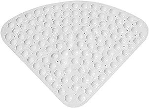 Base forata Accessori da bagno per doccia Fissaggio a ventosa mDesign Set da 2 Tappetino doccia con fondo antiscivolo Tappeto antiscivolo in plastica trasparente
