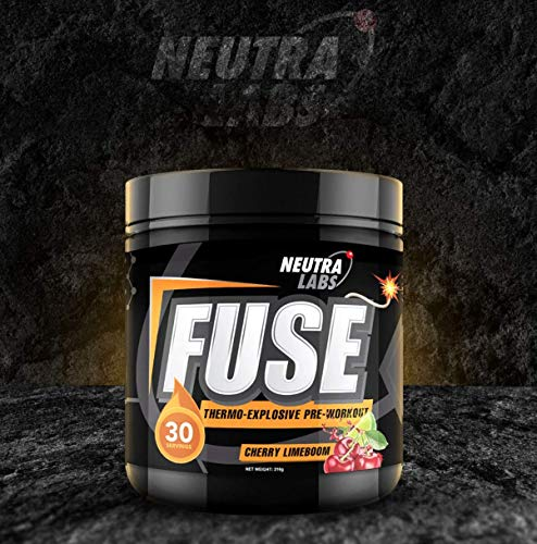 Neutra Labs Fuse Pre Workout Strong Energy Drink Cherry Lime Boom Flavour - 30 Servings